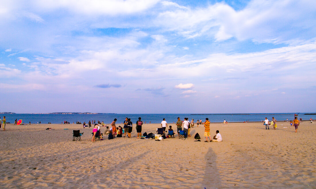 Revere Beach, on a slightly chilly June afternoon -  Photo courtesy of Francis under Creative Commons License