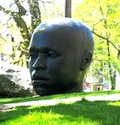 Sculpture outside the Afro-American Art Museum in Boston