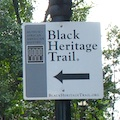 Photo of sign for Boston's Black Heritage Trail - www.boston-discovery-guide.com