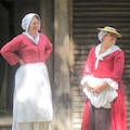 Costumed guides at historic stop on Boston tours