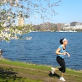Runner on the Charles River Esplanade in Boston