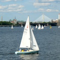 Sailboat on Boston's Charles River