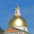 Massachusetts State House in Boston - the golden dome