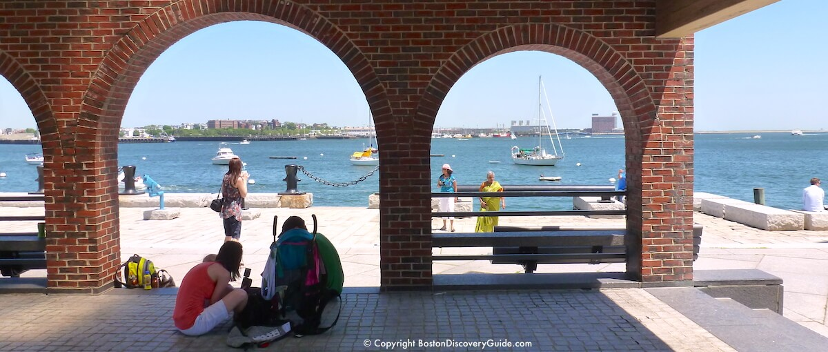 Harborwalk overlooking Boston Harbor