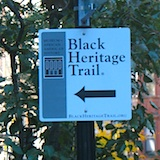 Sign for Black Heritage Trail, Beacon Hill