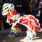 Photo of Lion Dance at Chinese New Year's Celebration - www.boston-discovery-guide.com