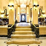Luxurious lobby of Boston's Eliot Hotel