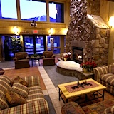 Photo of fireplace in Village of Loon Mountain Resort