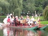 Boston Swan Boat in the Public Garden
