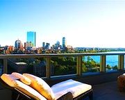Room with balcony overlooking Charles River at Liberty Hotel in Boston - www.boston-discovery-guide.com