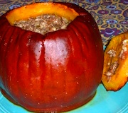 Savory stuffed pumpkin recipe