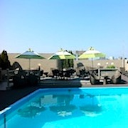 Rooftop pool at Colonnade Hotel in Boston