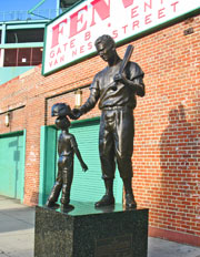 Fenway Park Tour - Ted Williams statue on Van Ness Street