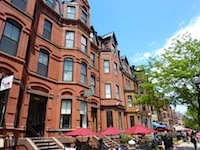 Photo of brownstones in Boston's Back Bay neighborhood