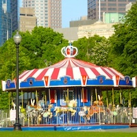 Photo of Boston Common Carousel - Open in April