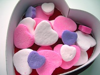 Candy hearts for Valentine's Day in Boston