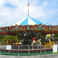 Carousel on Rose Kennedy Greenway near Faneuil Market in Boston, MA