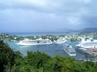 Charlotte Amalie, where cruises from Boston to Caribbean destinations may stop