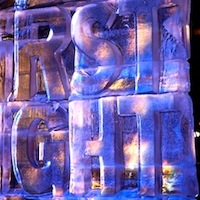 First Night in Boston ice sculpture