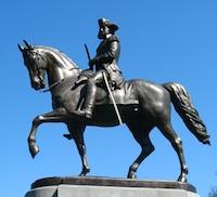 Photo of George Washington Statue by Thomas Ball - see on your tour of Boston's Public Garden