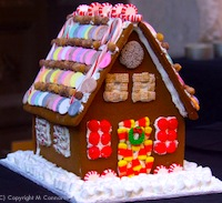 Gingerbread house decorating event