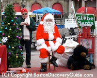 Globe Santa - Boston December event