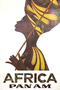 """Poster from International Poster Gallery in Boston shown at Grand Circle Gallery's """"Travels through Africa"""" show"""