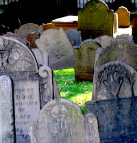 Boston Ghosts and Gravestones Tour visits this graveyard