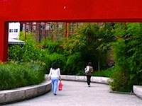Chinese Gate on Rose Kennedy Greenway in Boston