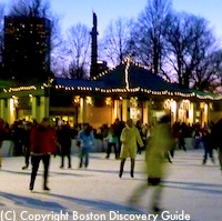 Ice skating at Boston's Frog Pond - Half price college nights