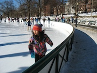 Photo of ice skaters on Boston's Frog Pond