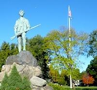 Photo of Lexington Minuteman Statue, Village Green - a stop on the TOtal Boston Experience Tour