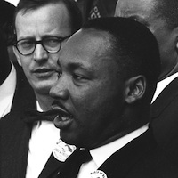 Photo of Dr. Martin Luther King, Jr., American civil rights leader