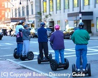 Segway riders on Arlington Street near Boston's Taj Hotel