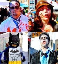 Boston Halloween celebration at Sowa Market of the Living Dead