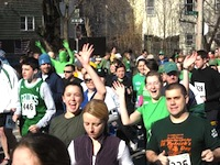 St Patrick's Day race in Boston MA