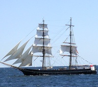 Tall ships at Boston's Harborfest in June and July