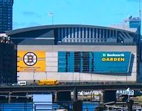TD Garden, home court of the Boston Bruins and Boston Celtics