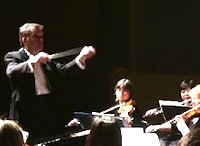 Patrick Botti conducting the Waltham Symphony Orchestra, Waltham Massachusetts