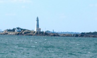 Photo of Brewster Lighthouse at Boston Harbor Islands /  www.boston-discovery-guide.com