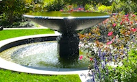 Photo of fountain in Ramler Park, in Boston's Fenway  neighborhood