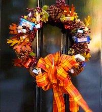 Halloween decorations in Boston's Beacon Hill