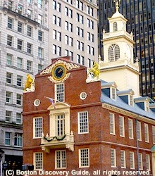 Old State House photo, next to Boston Massacre Site