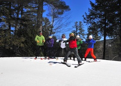 Ski lesson at King Pine and Purity Spring Resort, New England Ski Resort in NH