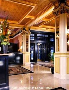 Photo of lobby of Lenox Hotel in Boston's Back Bay