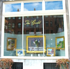The Guild art gallery on Newbury St in Boston MA