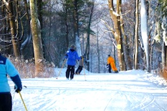 Photo of skiers at Mohawk Mountain Ski area in Cornwall CT