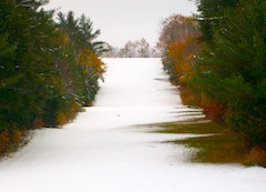 Photo of run at New Hermon Mountain, ski area in Maine