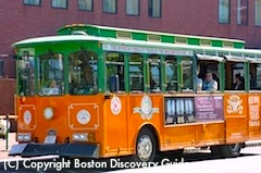 Boston Trolley from Black Falcon Cruise Terminal to Faneuil Hall Marketplace