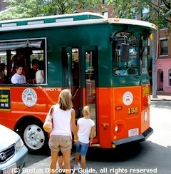 Boston Trolley sightseeing tours